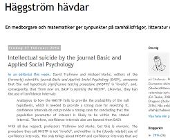 Häggström Hävdar about NHST