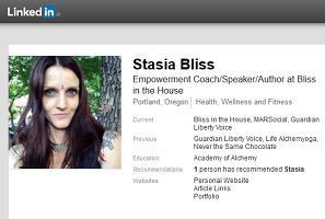 Who is Stasia Bliss?