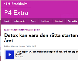 Detox on Swedish Public Radio