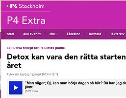 Detox on Swedish Public Radio