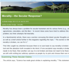 morality the secular response