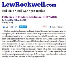HIV/AIDS denialism at LewRockwell.com