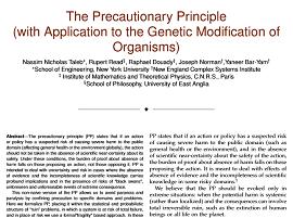 Failure of precuationary principle