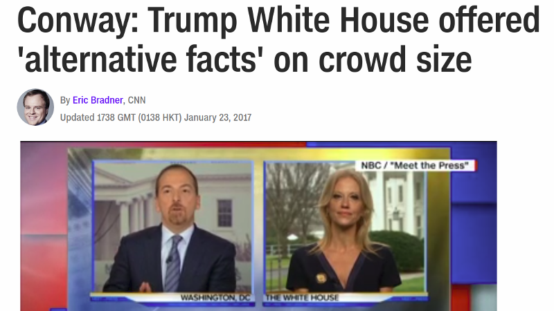 Alternative facts are bullshit