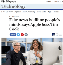 Tim Cook versus Fake News