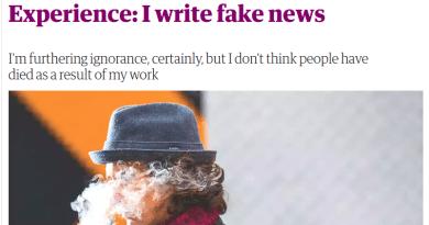 Fake News Writer Admits Pushing Falsehoods for Money