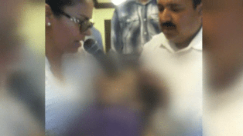Video of an alleged resurrection ceremony with cult leader Aracely Meza