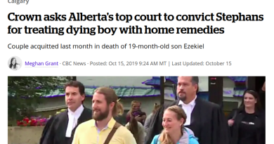 Prosecutors Appeal Acquittal of Quack Parents Who Let Their Son Die of Meningitis