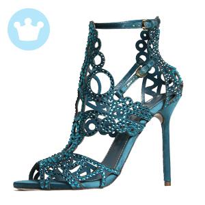 Sapato Azul Frozen Elsa Sergio Rossi