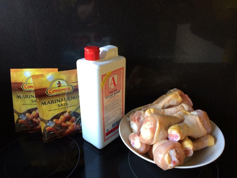 Ingrediënten snelle gemarineerde kip