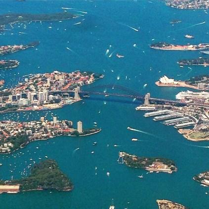 Sydney Harbour Bridge from the air