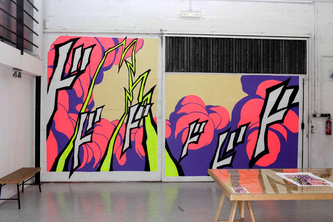 debza-artist-streetart-mural-painting-annecy-galerie-artbyfriends-exhibition-explosion-1