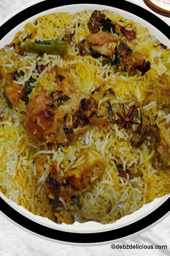 Hyderabadi Chicken Biryani Recipe, How to Make Chicken Dum Biryani,