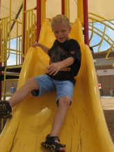 Charlie love to slide