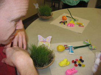 building an easter egg basket
