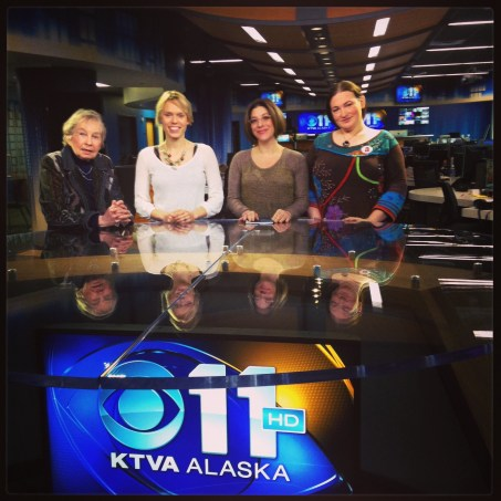Lael Morgan, KTVA staff, M. Dante and Terra Burns