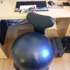 Fitball Balance Ball Chair Round Dining Cushions Sitting On My And Manual