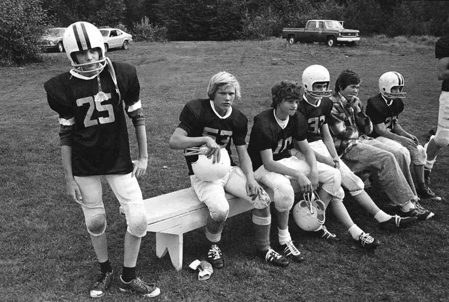 The Bench — scene from early Comox Valley youth football