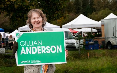 Greens Gillian Anderson: stop fossil fuel subsidies, only public long-term care beds
