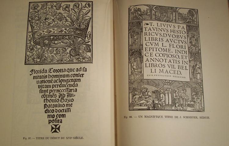 Exemples de livres anciens