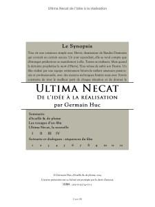 table des matières dans Ultima Necat, de l'idée à la réalisation