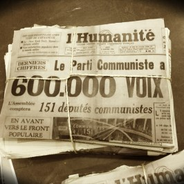 Une de l'Humanité en 1956.