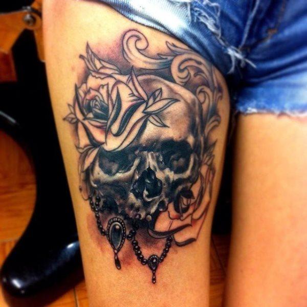 Tatuajes De Calaveras Con Flores Decalaverascom