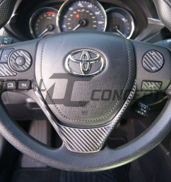 toyota corolla carbon fiber full steering wheel dress up decal kit 2014 2016 decal concepts [ 2568 x 2272 Pixel ]
