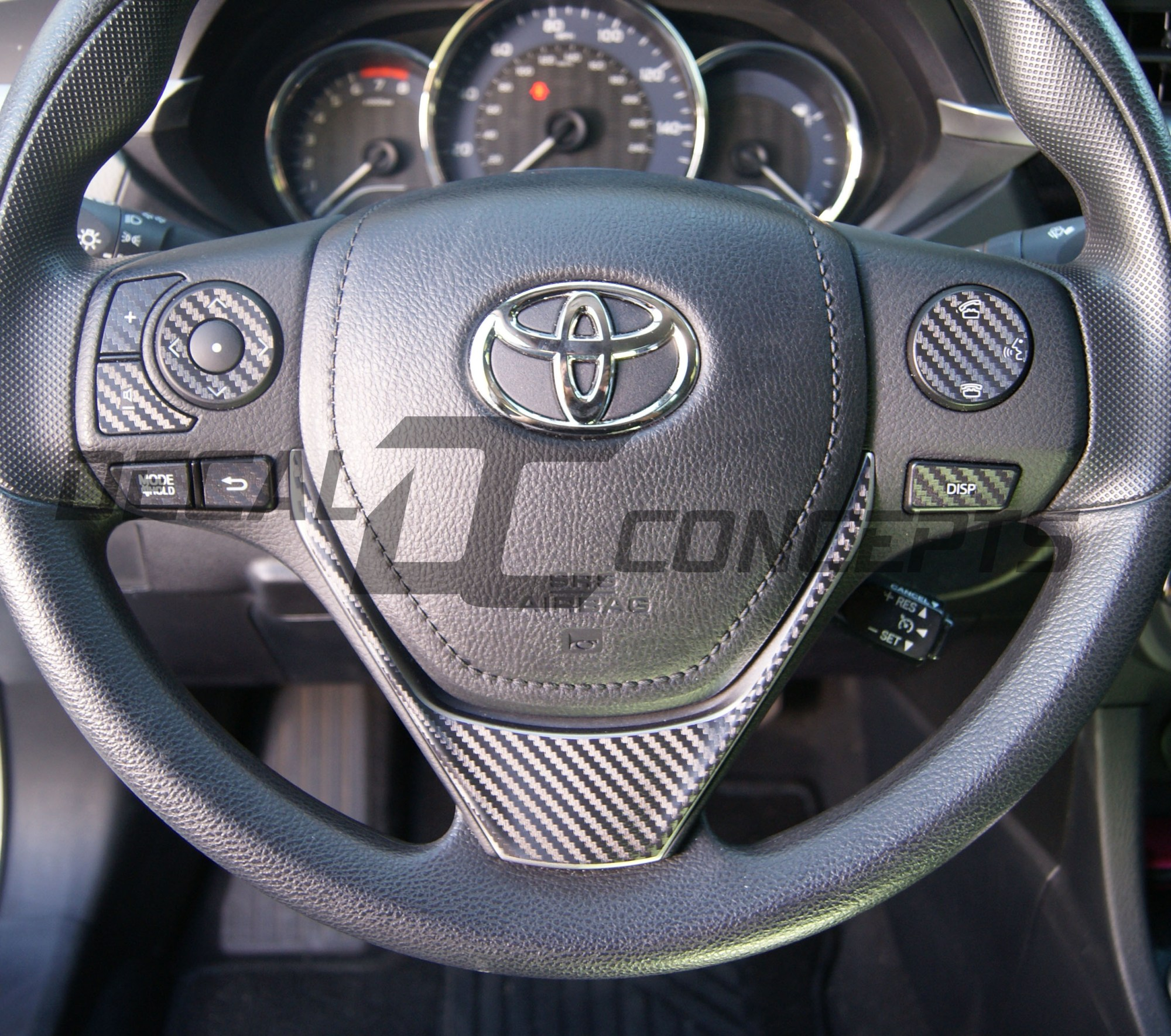 hight resolution of toyota corolla carbon fiber full steering wheel dress up decal kit 2014 2016 decal concepts