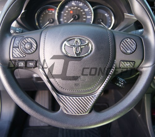 small resolution of toyota corolla carbon fiber full steering wheel dress up decal kit 2014 2016 decal concepts