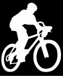 mountain bike rider decal