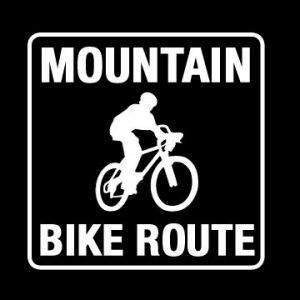 mountain bike route decal