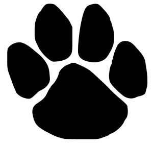 Dog Paw Print Iron-on Decal
