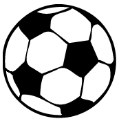 soccer ball iron-on decal