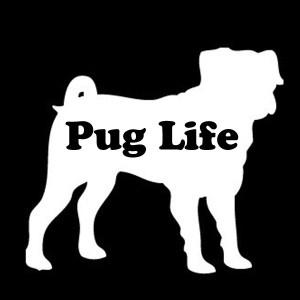 pug life decal
