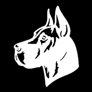 great dane head decal