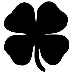 Four Leaf Clover Iron-On Decal