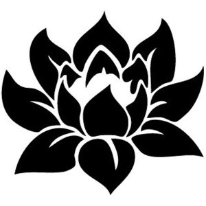 Lotus Flower Iron-On Decal