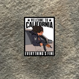 California Everything is Fine Girl with AK Vinyl Decals