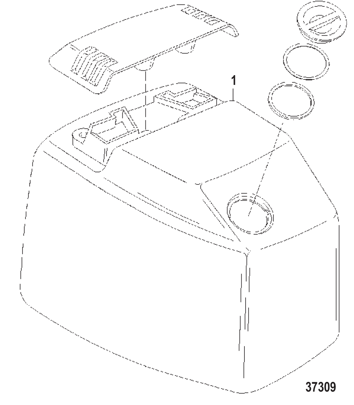 hight resolution of top cowl s n usa 0g301751 bel 9885505 and up diagram 37309