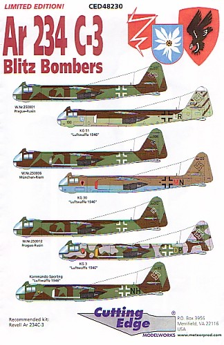 Arado Ar 234C3 Decal Review by Rob Baumgartner Cutting Edge 148