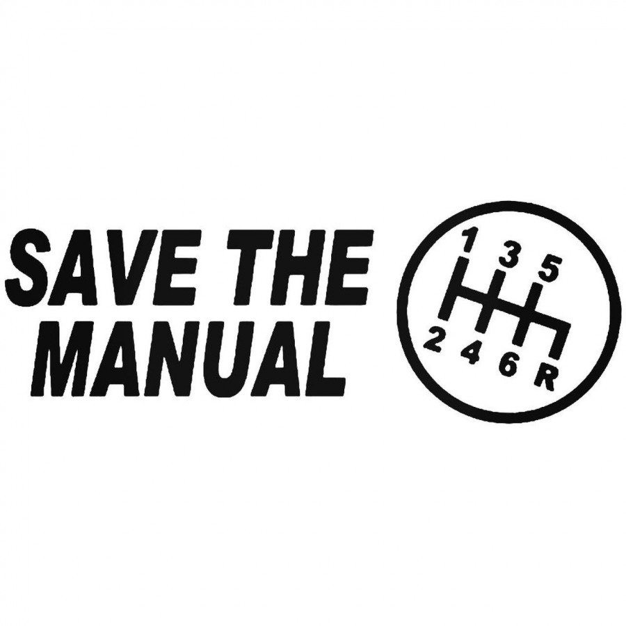Buy Save The Manual Sticks Jdm Japanese Vinyl Decal