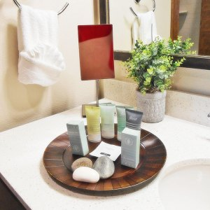 Bathroom amenities at The Lodge at Columbia Point