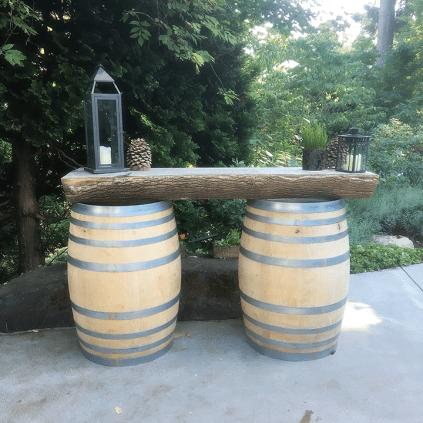 JM Cellars outdoor tasting table