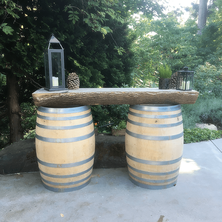 JM Cellars outdoor tasting table