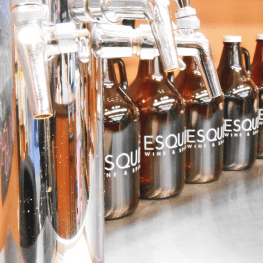 Esquin's growler bar
