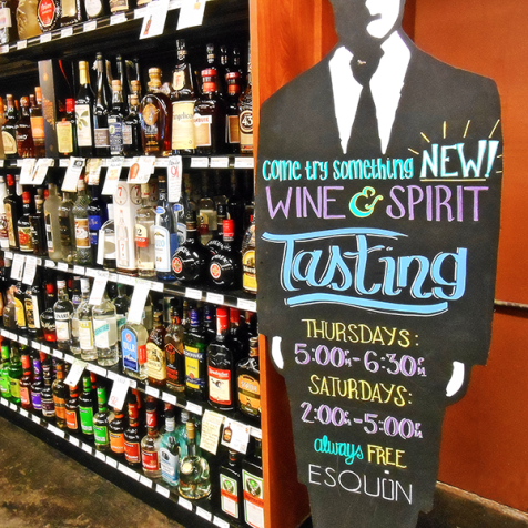 Esquin Wine and Spirits free tastings