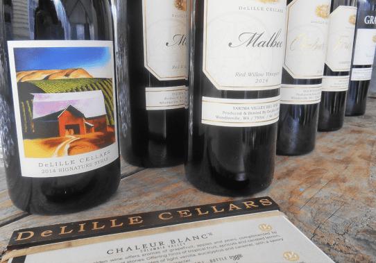 DeLille Cellars wine tasting