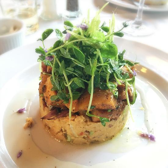Vegetarian dish at Bacchus Bistro