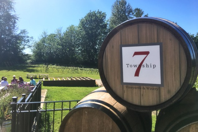 Township 7 Winery vineyards and tasting room patio